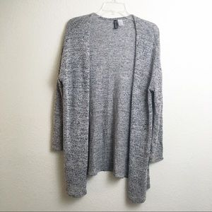 H&M Divided Open Front Gray Cardigan